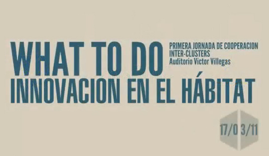 What to do, Innovación en el hábitat//re ...